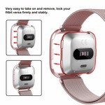 123Watches.nl Fitbit versa milanese case band - rose rood
