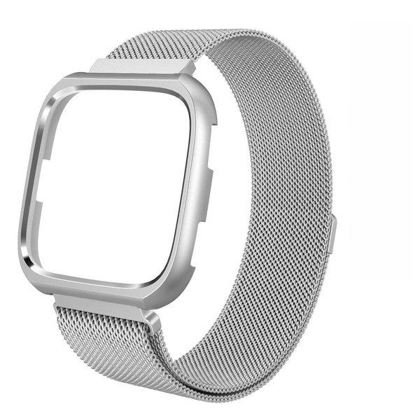 123Watches.nl Fitbit versa milanese case band - zilver