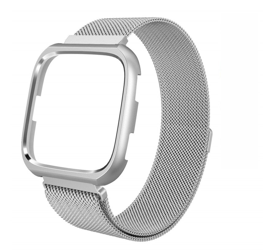 Fitbit versa milanese case band - zilver