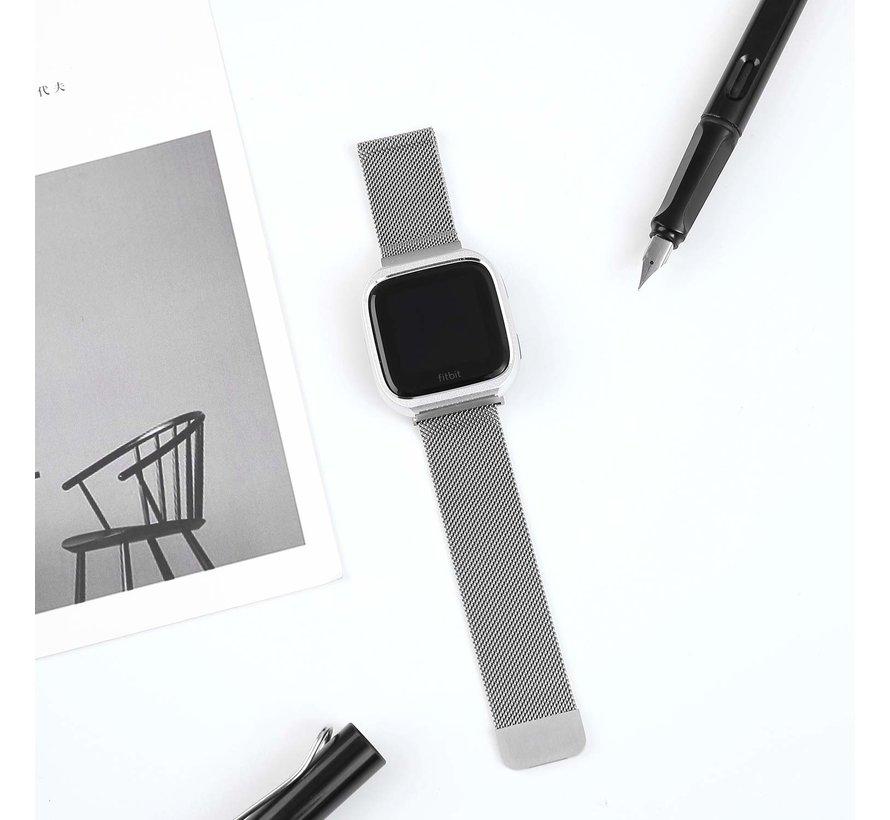 Fitbit versa milanese case band - silver