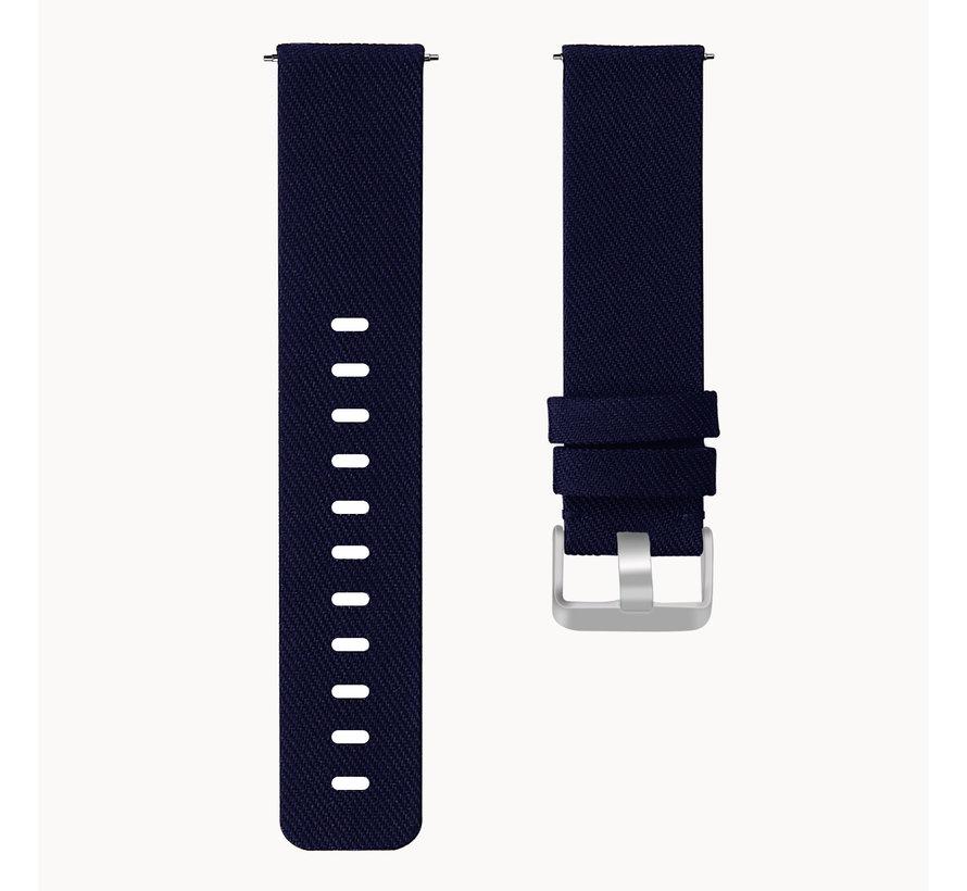 Fitbit versa nylon gesp band - blauw
