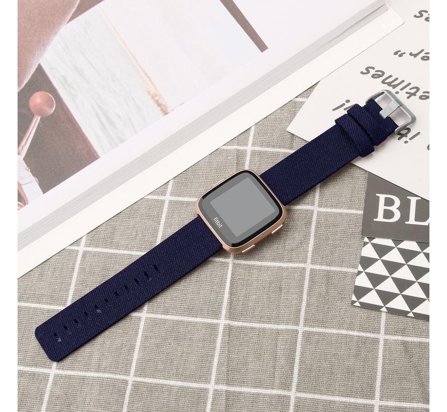Fitbit versa nylon gesp band - blue