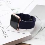 123Watches.nl Fitbit versa nylon gesp band - blue