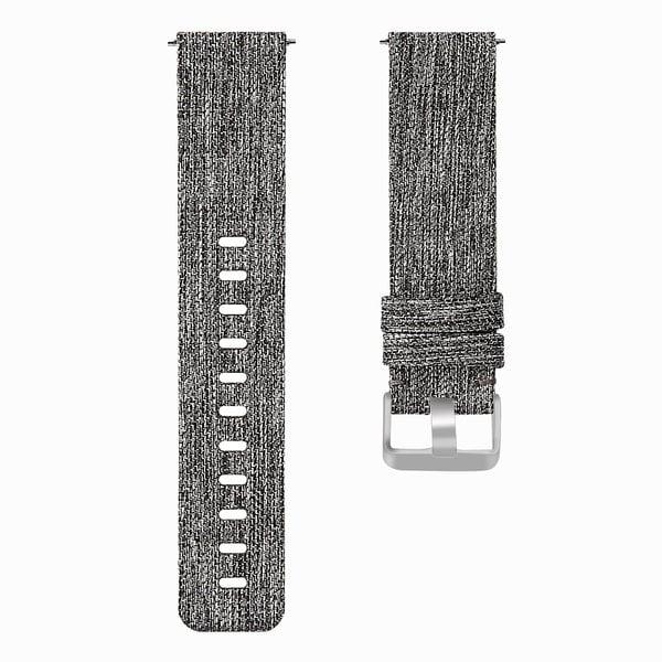 123Watches Fitbit versa nylon gesp band - donker grijs