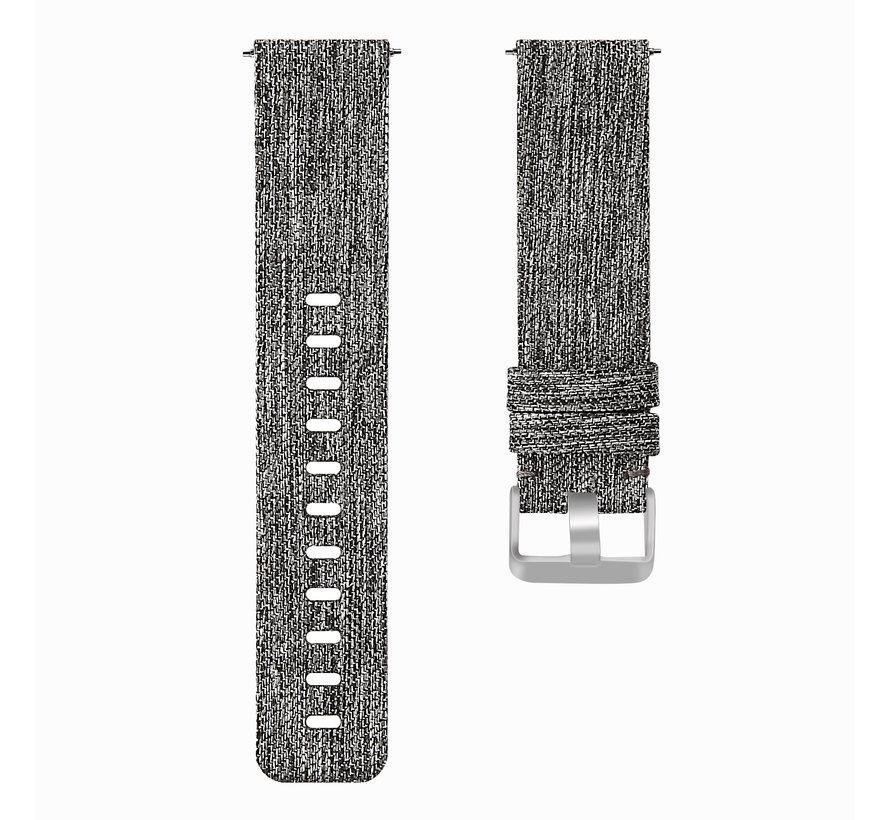 Fitbit versa nylon gesp band - donker grijs
