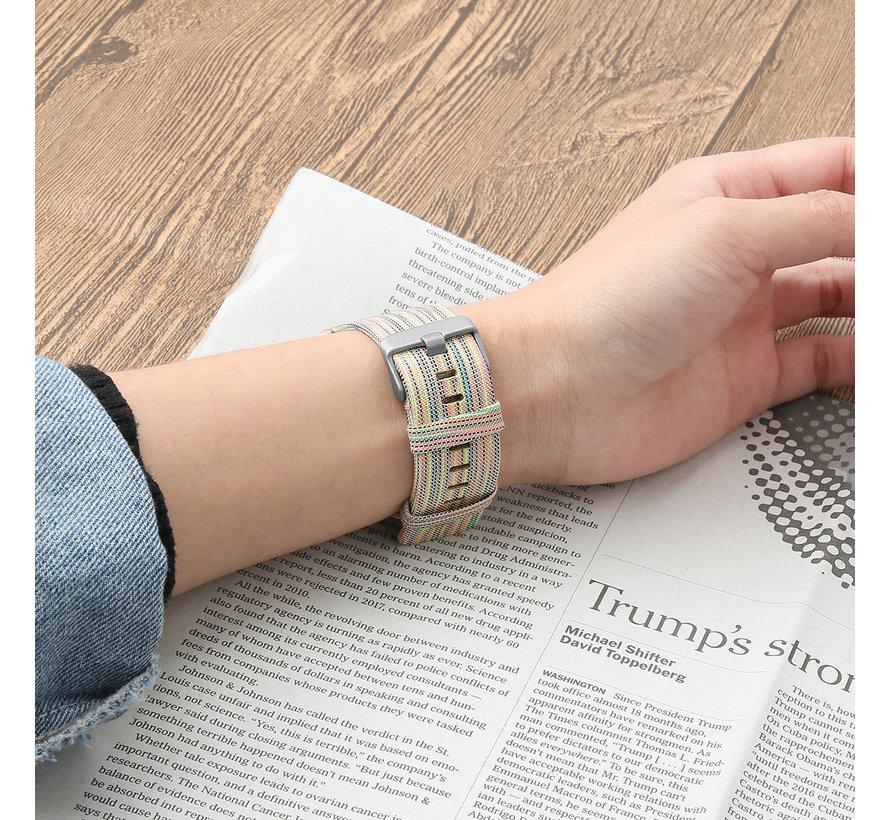 Fitbit versa nylon gesp band - bunt