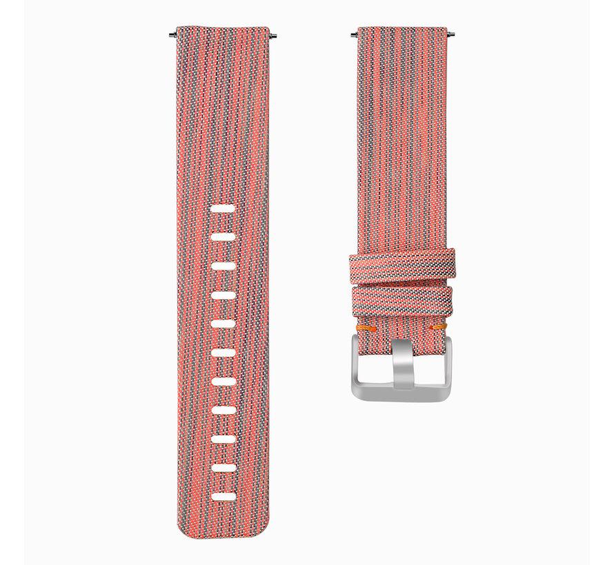 Fitbit versa nylon gesp band - orange striped
