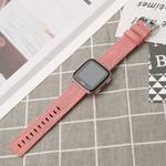 123Watches.nl Fitbit versa nylon gesp band - orange gestreift