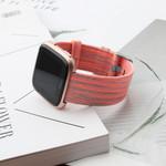 123Watches Fitbit versa nylon gesp band - orange striped