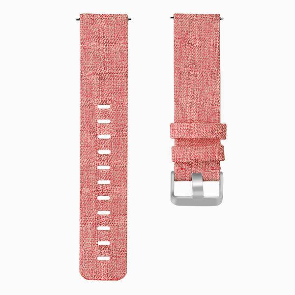 123Watches.nl Fitbit versa nylon gesp band - oranje