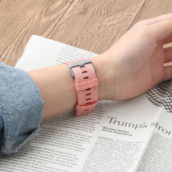 123Watches Fitbit versa nylon gesp band - oranje