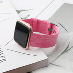 123Watches.nl Fitbit versa nylon gesp band - pink