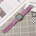 123Watches Fitbit versa nylon gesp band - paars