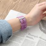 123Watches Fitbit versa nylon gesp band - violet