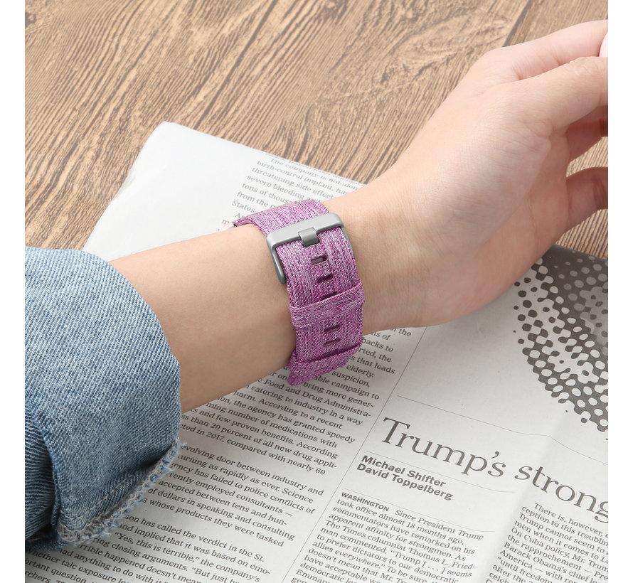 Fitbit versa nylon gesp band - violet