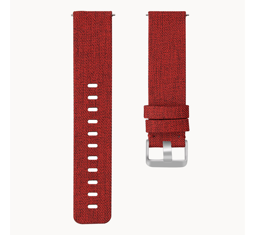 Fitbit versa nylon gesp band - red