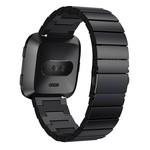 123Watches.nl Fitbit versa steel link band - black