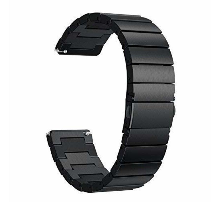 Fitbit versa stalen schakel band - zwart