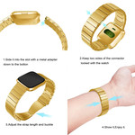 123Watches Fitbit versa steel link band - gold