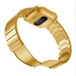 123Watches.nl Fitbit versa stalen schakel band - goud