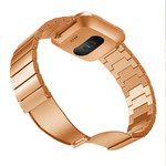 123Watches.nl Fitbit versa steel link band - rose gold