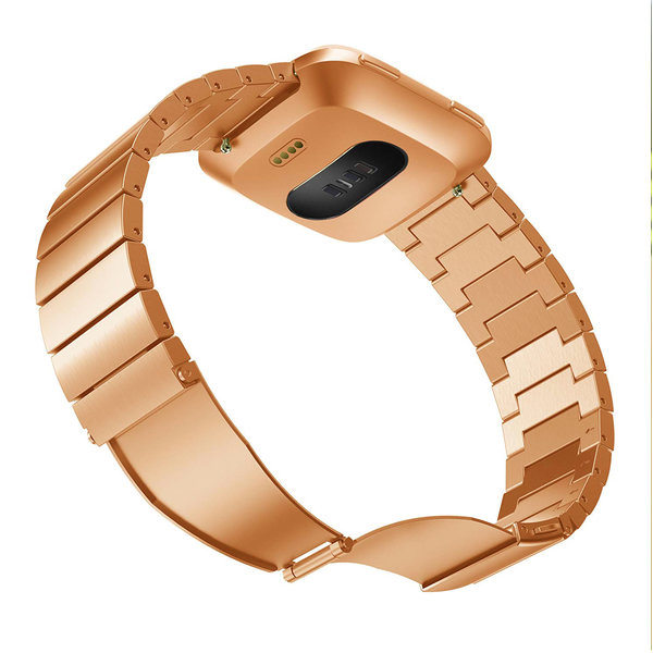 123Watches Fitbit versa steel link band - rose gold