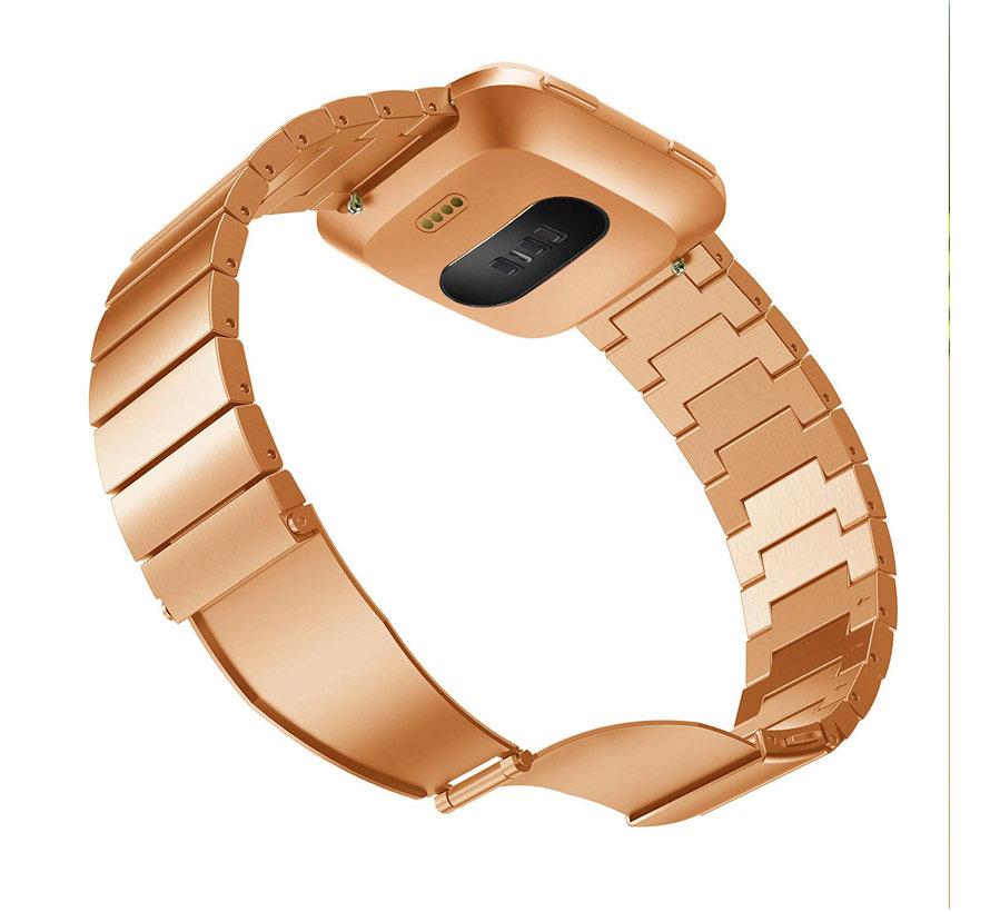 Fitbit versa stahlgliederband - roségold