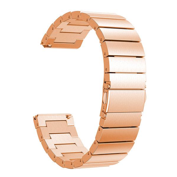 123Watches.nl Fitbit versa stalen schakel band - rose goud