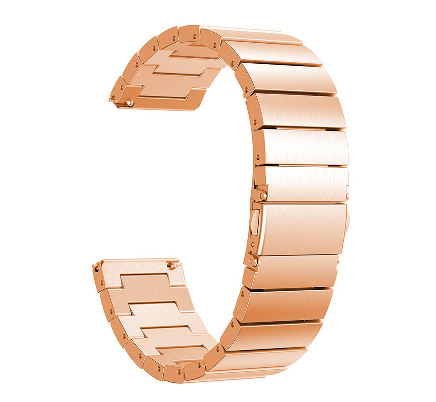 Fitbit versa stalen schakel band - rose goud