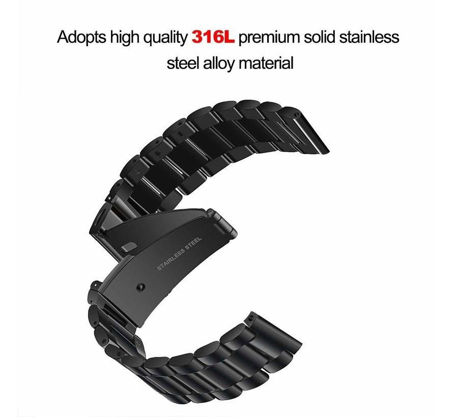 Fitbit versa 3 beads steel link band - black