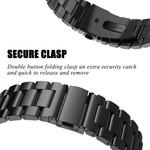 123Watches Fitbit versa kralen stalen schakel band - zwart