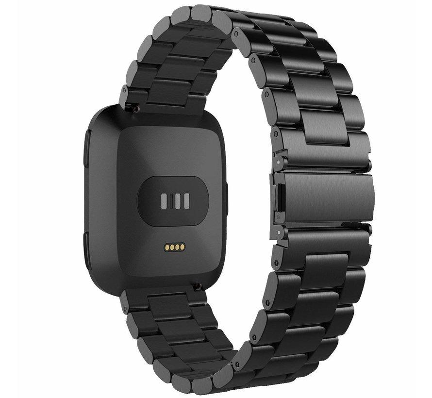 Fitbit versa 3 perlen stahlgliederband - schwarz