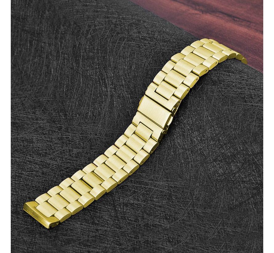 Fitbit versa 3 kralen stalen schakel band - goud