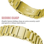 123Watches.nl Fitbit versa 3 beads steel link band - gold