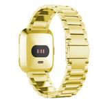123Watches Fitbit versa 3 kralen stalen schakel band - goud