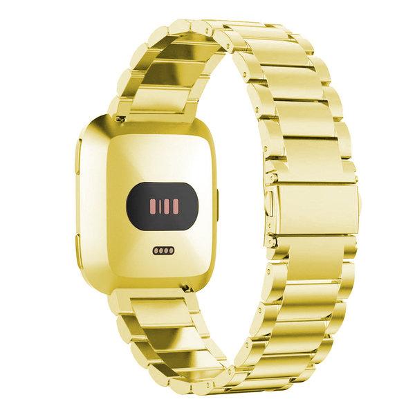 123Watches Fitbit versa kralen stalen schakel band - goud