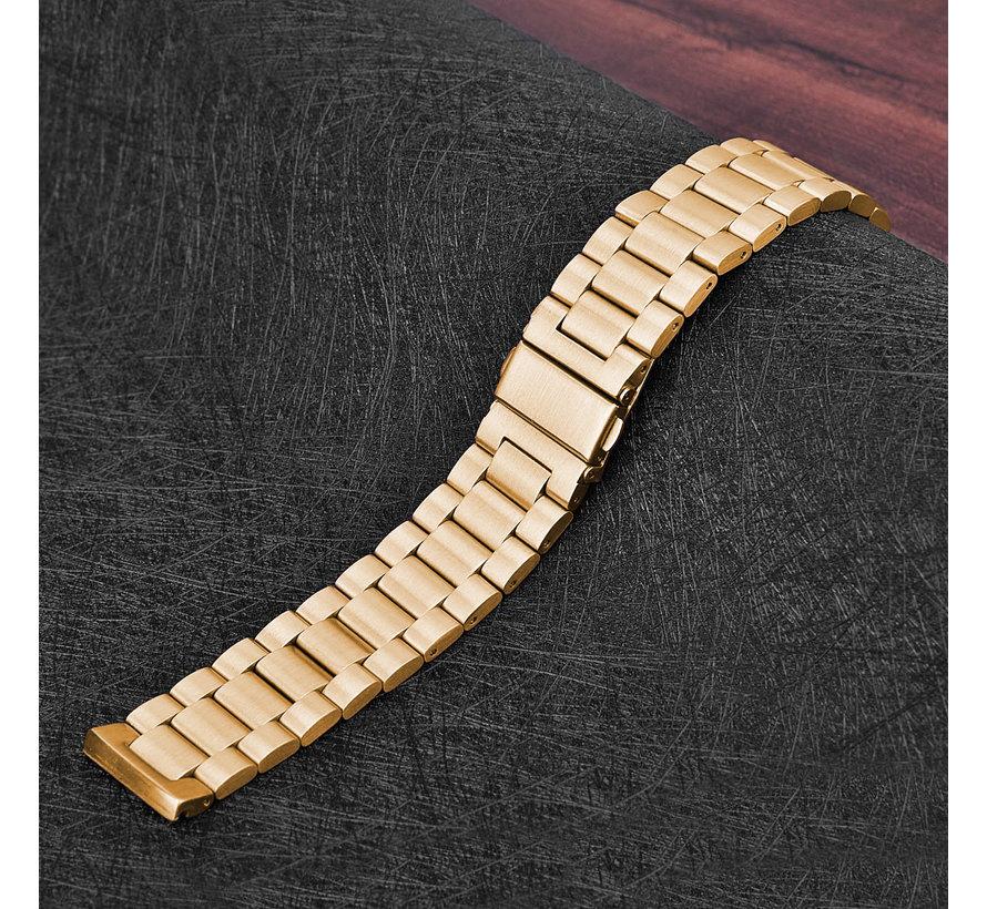 Fitbit versa 3 kralen stalen schakel band - rose goud