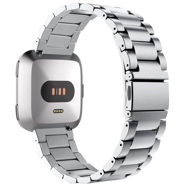 123Watches.nl Fitbit versa 3 perlen stahlgliederband - silber