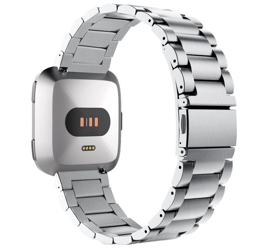 Fitbit versa 3 perlen stahlgliederband - silber