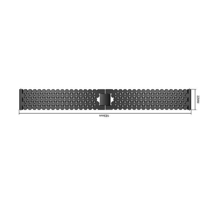 Fitbit versa fish steel link band - black