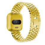 123Watches.nl Fitbit versa fisch stahlgliederband - gold