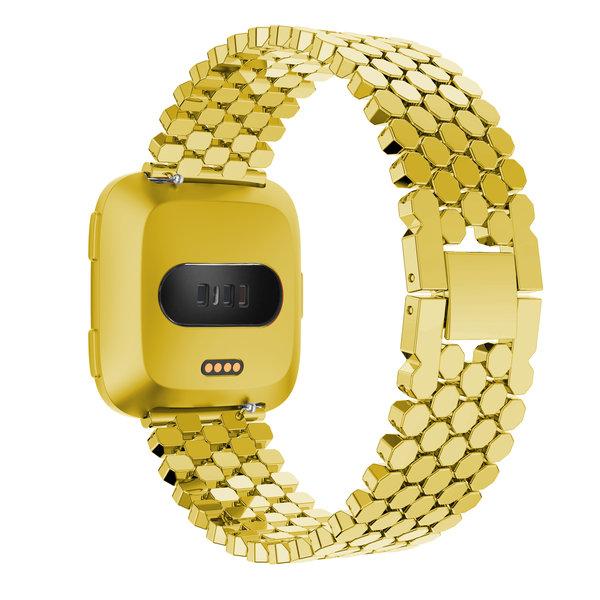 123Watches Fitbit versa vis stalen schakel band - goud
