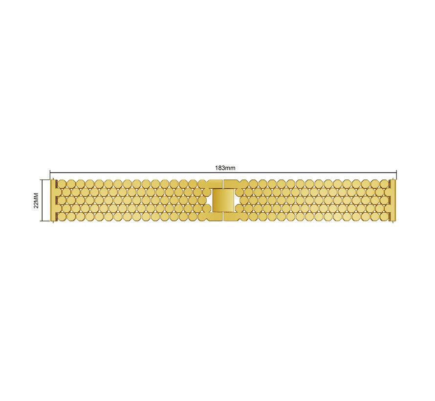 Fitbit versa fisch stahlgliederband - gold