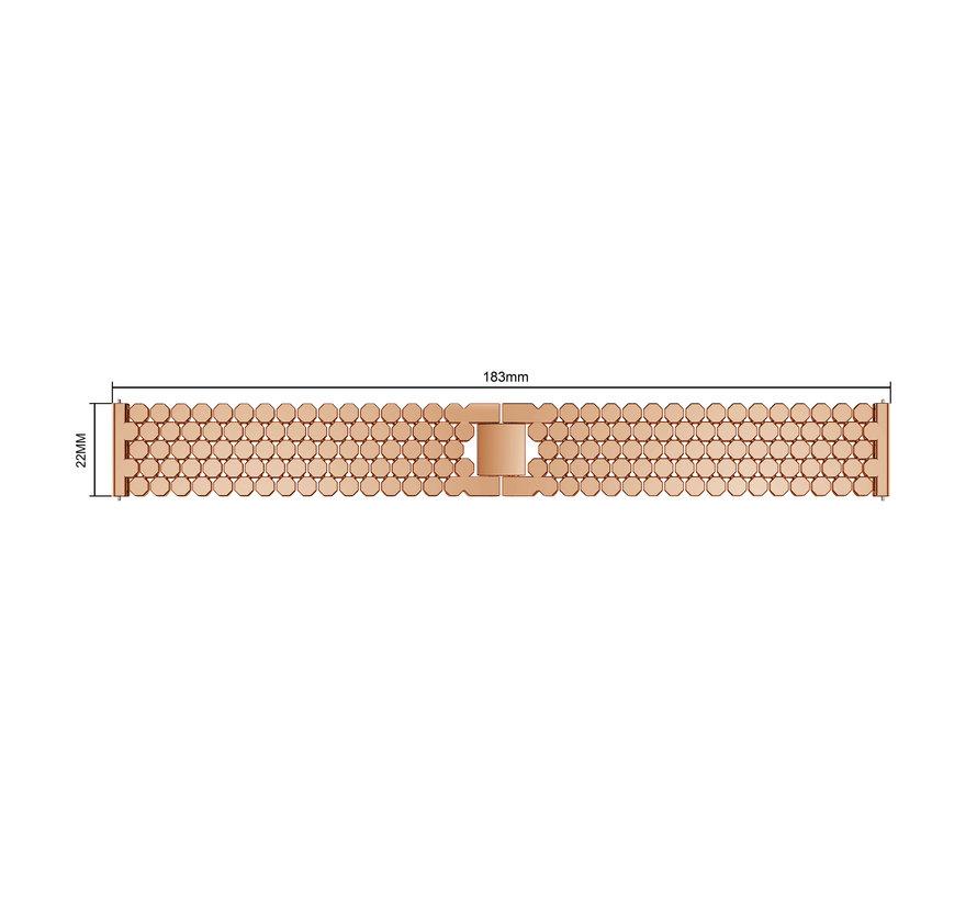 Fitbit versa fisch stahlgliederband - roségold