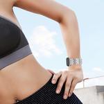 123Watches Fitbit versa bande en acier à poisson  - d'argent