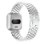 123Watches Fitbit versa fisch stahlgliederband - silber