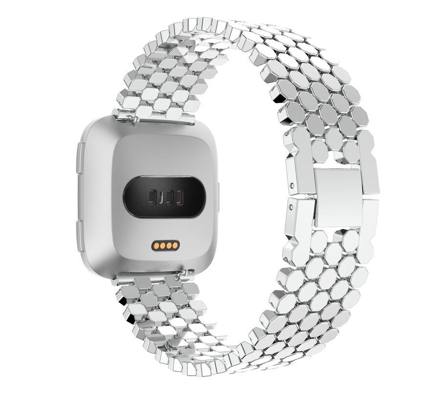 Fitbit versa fisch stahlgliederband - silber