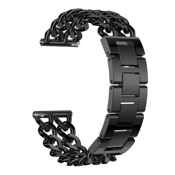123Watches.nl Fitbit versa cowboy steel link band - black