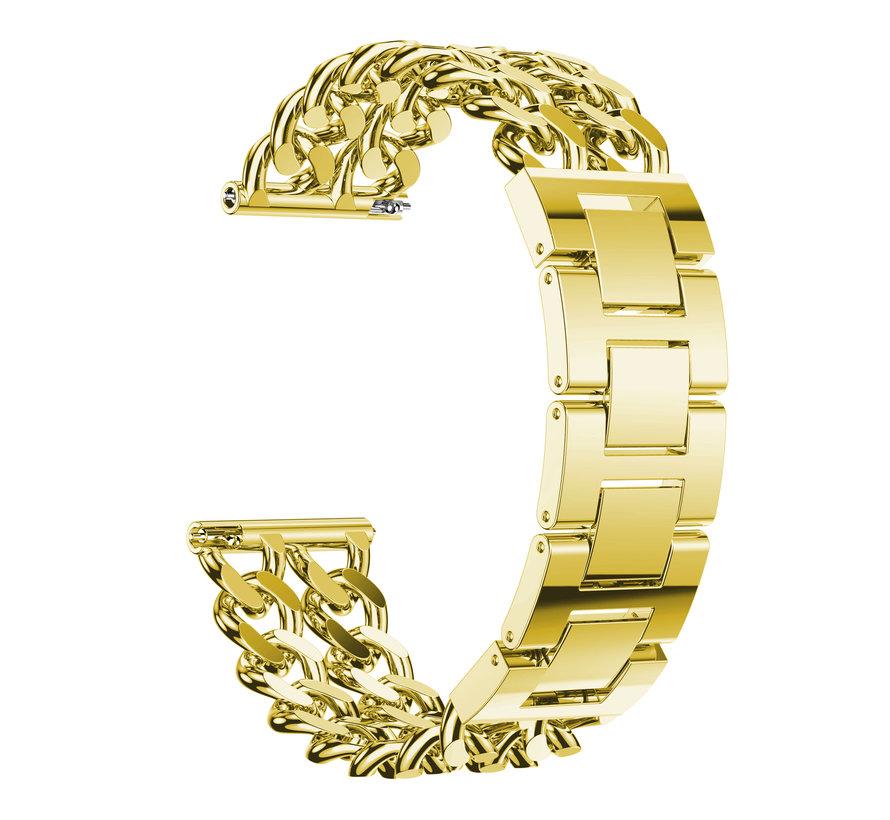 Fitbit versa cowboy stalen schakel band - goud