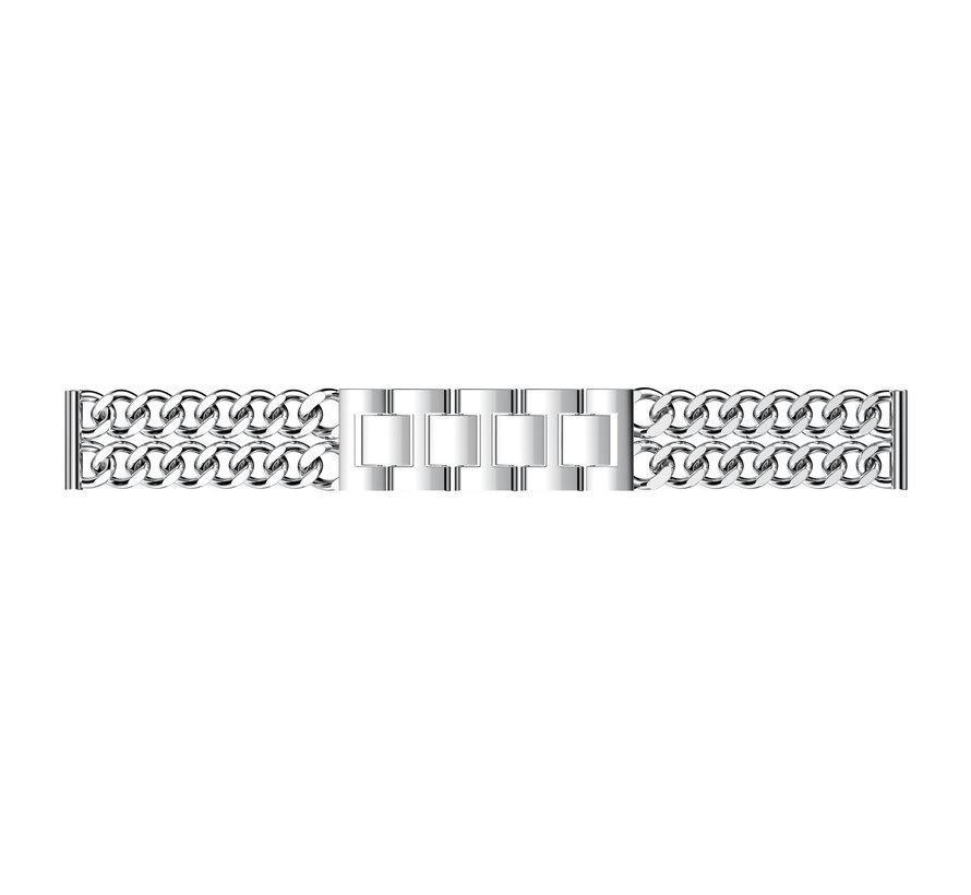 Fitbit versa cowboy steel link band - silver